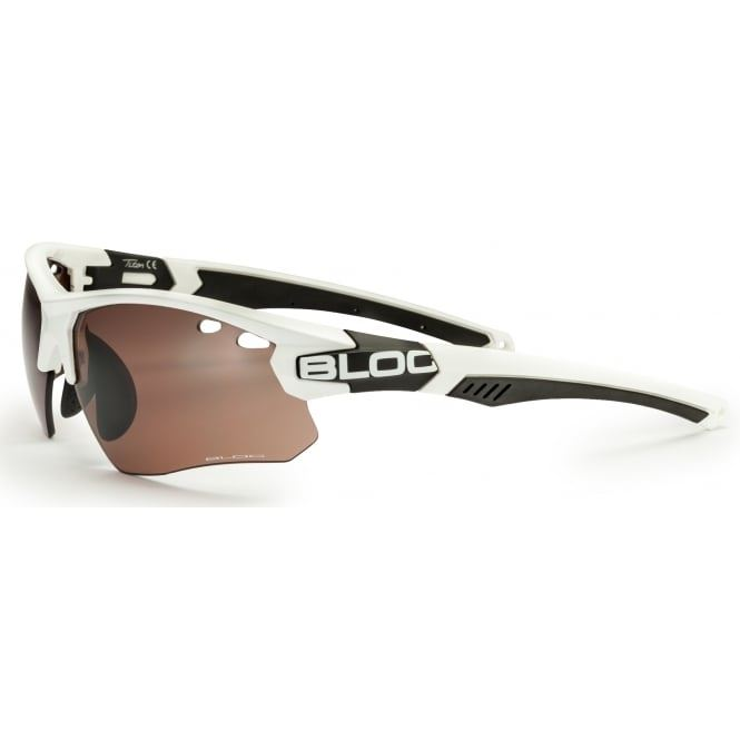 Bloc Titan Single X631S White with Vermilion Lens