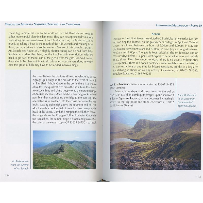 Walking the Munros Volume 2: Northern Highlands and the Cairngorms pages