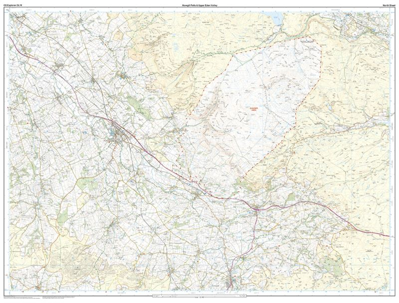 OS OL19 Howgill Fells & Upper Eden Valley north sheet