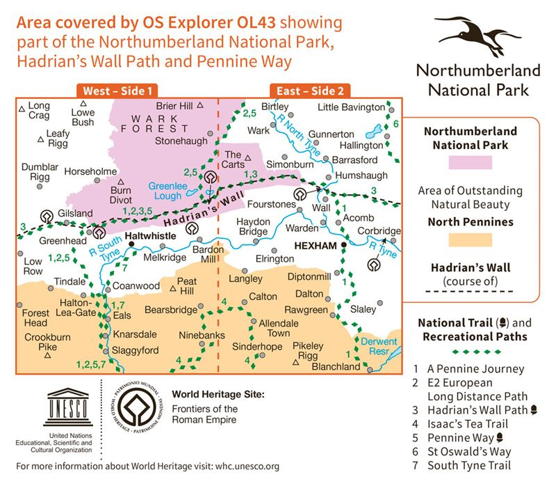 OS OL43 Hadrian's Wall coverage