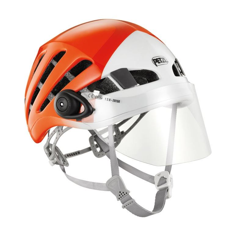Petzl Vizion Visor attached