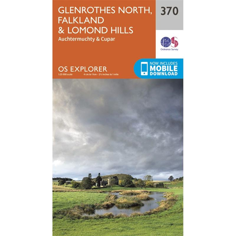 OS Explorer 370 Paper - Glenrothes North, Falkland & Lomond Hills