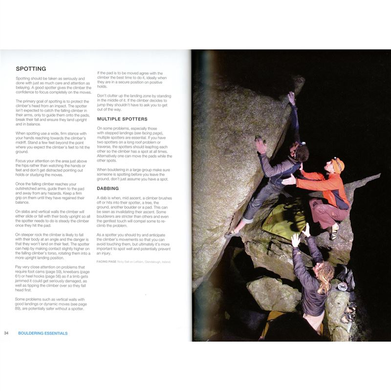 Bouldering Essentials pages