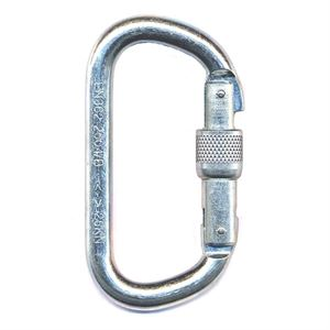 Foin Steel D Oval Screwgate Karabiner