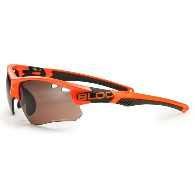 Bloc Titan Single X632S Orange with Vermilion Lenses