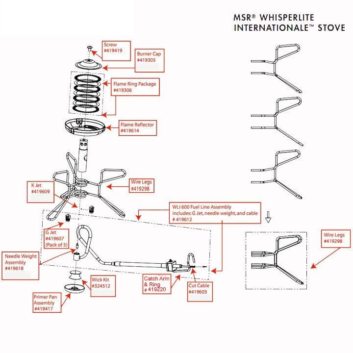 MSR WhisperLite 600 diagram