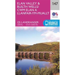 OS Landranger 147 Paper - Elan Valley & Builth Wells