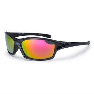 Bloc Daytona XR60 Shiny Black with Red Mirror Lenses
