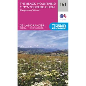 OS Landranger 161 Paper - Abergavenny & The Black Mountains