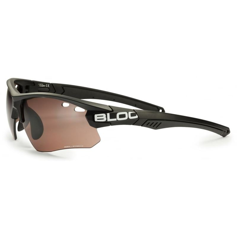 Bloc Titan Single X630S Black with Vermilion Lenses