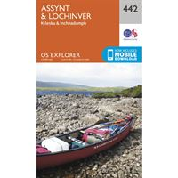 OS Explorer 442 Paper Assynt & Lochinver 1:25,000