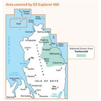 OS Explorer 408 Paper - Skye - Trotternish & The Storr coverage