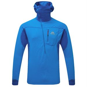 Mountain Equipment Men's Eclipse Hooded Zip-T Lapis Blue/Finch Blue