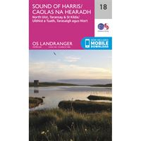 OS Landranger 18 Paper - Sound of Harris