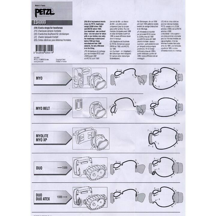 Petzl Replacement Elastic Strap for Petzl Head Torches