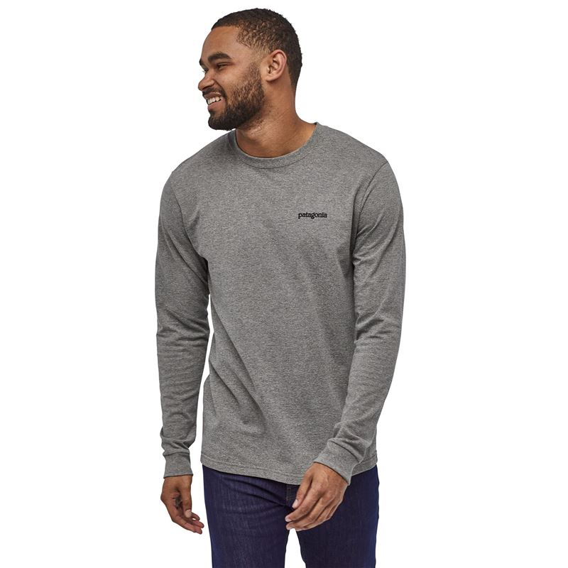 Patagonia Men's Long-Sleeved Fitz Roy Horizons Responsibili-Tee Gravel Heather