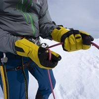 Rab Pivot GTX Glove in use