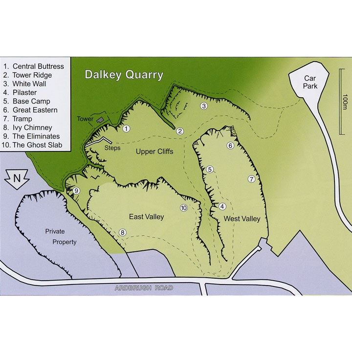 Dalkey Quarry map