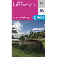 OS Landranger 57 Paper - Stirling & The Trossachs