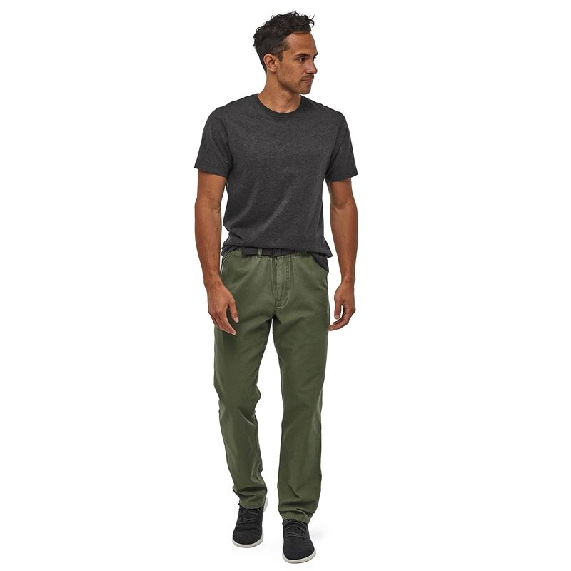 Patagonia Men's Organic Cotton Gi Pants Industrial Green Canvas