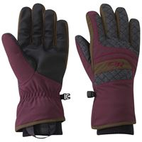 Outdoor Research Women's Riot Gloves Zin/Carob/Tomato