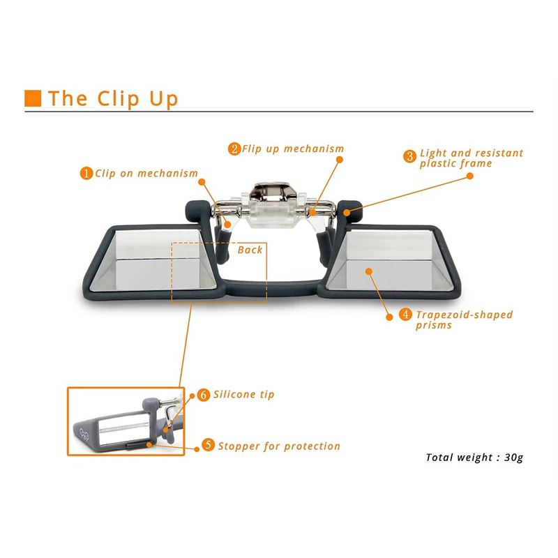 Y & Y Clip Up Clip On Belay Glasses instructions