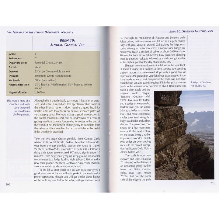 Via Ferratas of the Italian Dolomites: Volume 2 pages