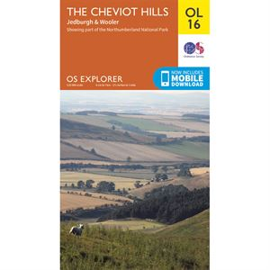 OS OL16 The Cheviot Hills