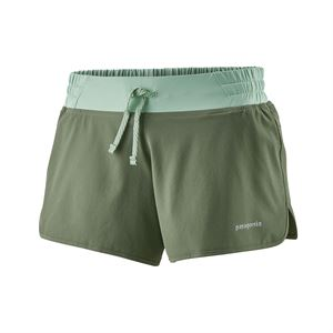 "Patagonia Women's Nine Trails Shorts 4"" Camp Green"