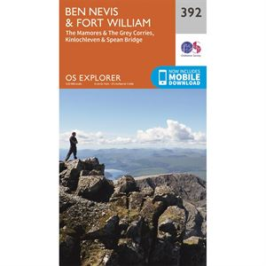 OS Explorer 392 Paper Ben Nevis & Fort William 1:25,000